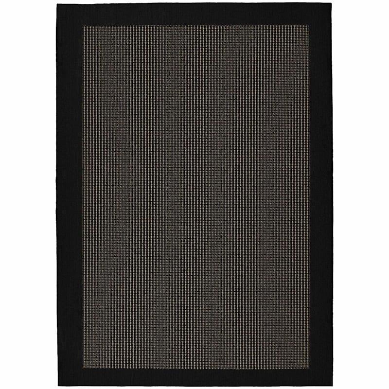 (D286) Berber Colorations Area Rug Black, 5x7