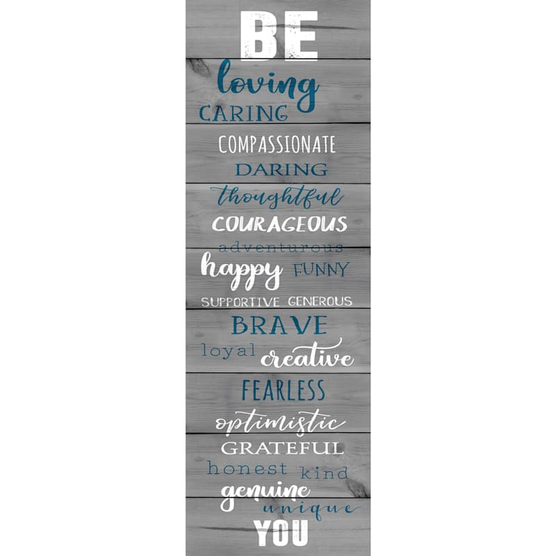 12X36 Be You Canvas Art