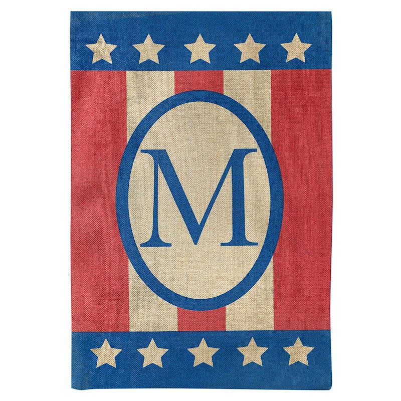Medium Burlap Monogram Patriotic