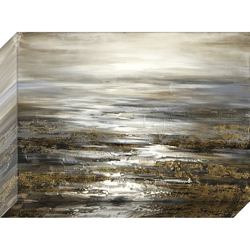 36X48 Abstract Dark Sea Enhanced Canvas