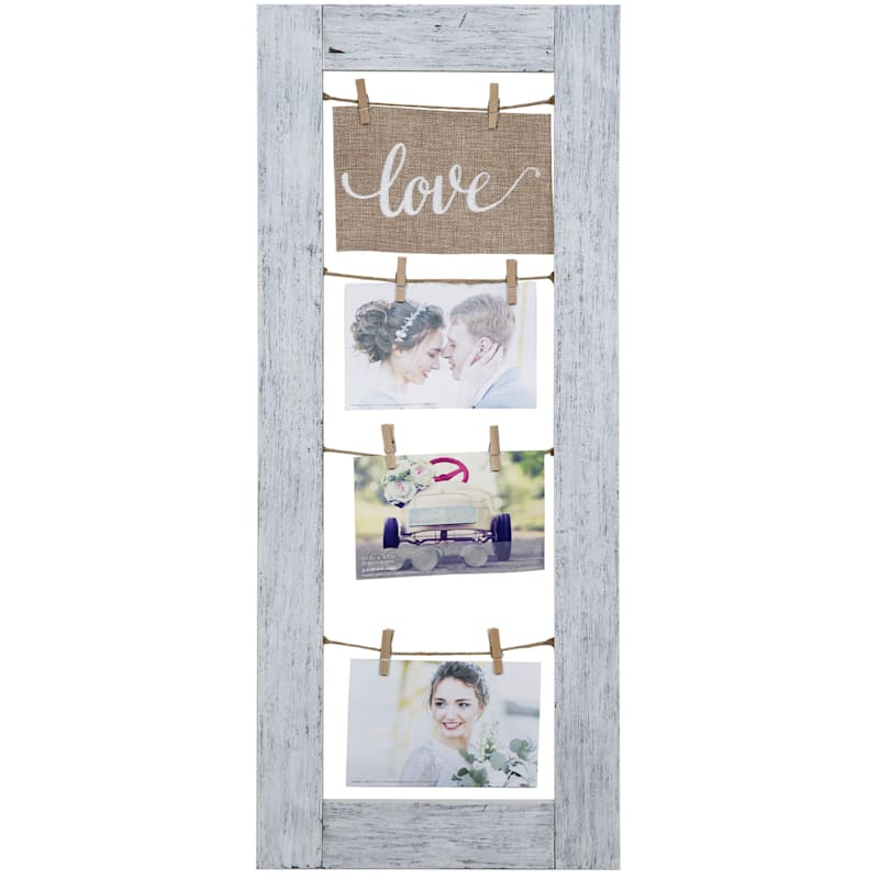 11X27 Burlap Love Banner 3 Clip Photo Collage