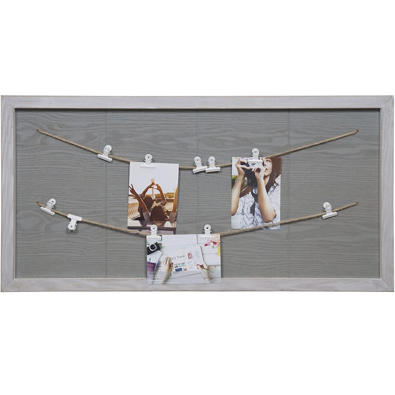 16X31 String Collage Frame With Metal Photo Clips