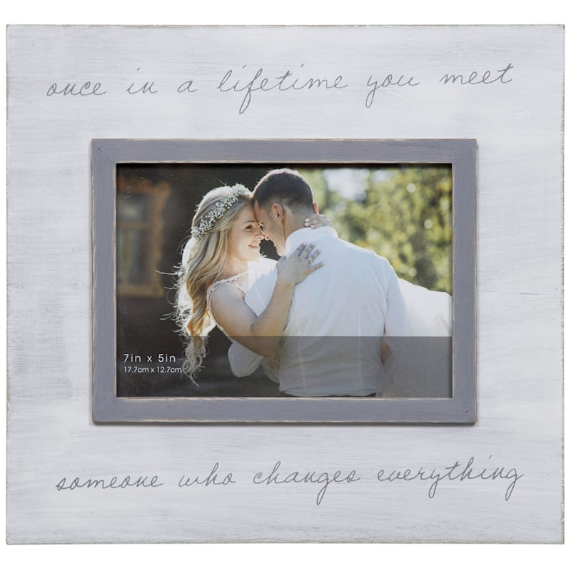 5X7 Once In Lifetime Tabletop Photo Frame