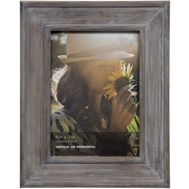 5X7 Distressed Grey Slant Tabletop Photo Frame
