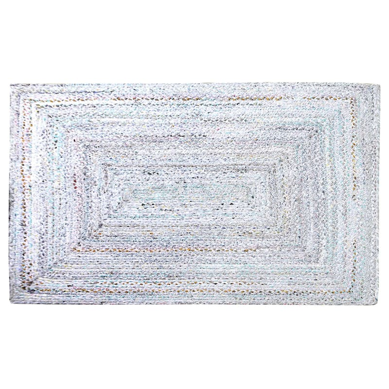 (D382) Braided Chindi Pastel, 5x7