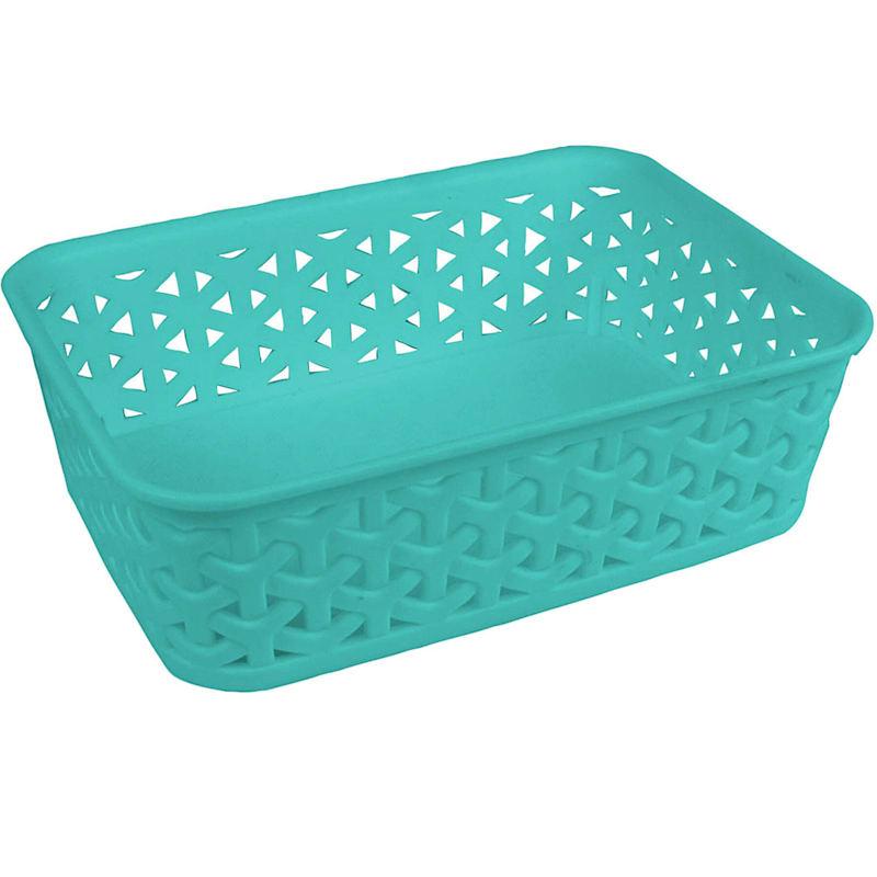 8X6 Weave Basket Turquoise