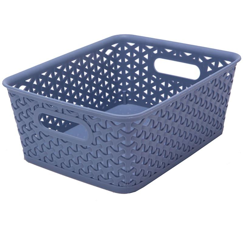 10X8 Weave Basket Blue