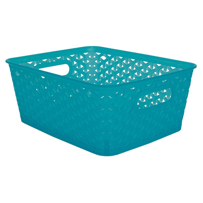10X8 Weave Basket Turquoise