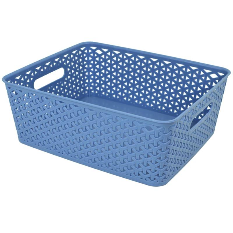 13.75X11 Weave Basket Blue