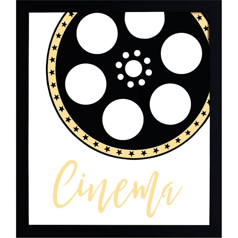 12X14 Movie Reel Cinema Framed Art Under Glass