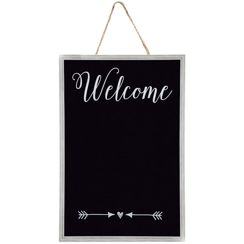 23X35 Welcome And Arrow Accent Hanging Chalkboard