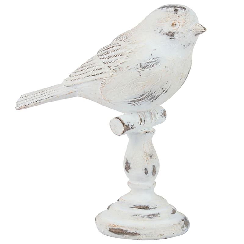 4X5 Res Whitewashed Bird Branch