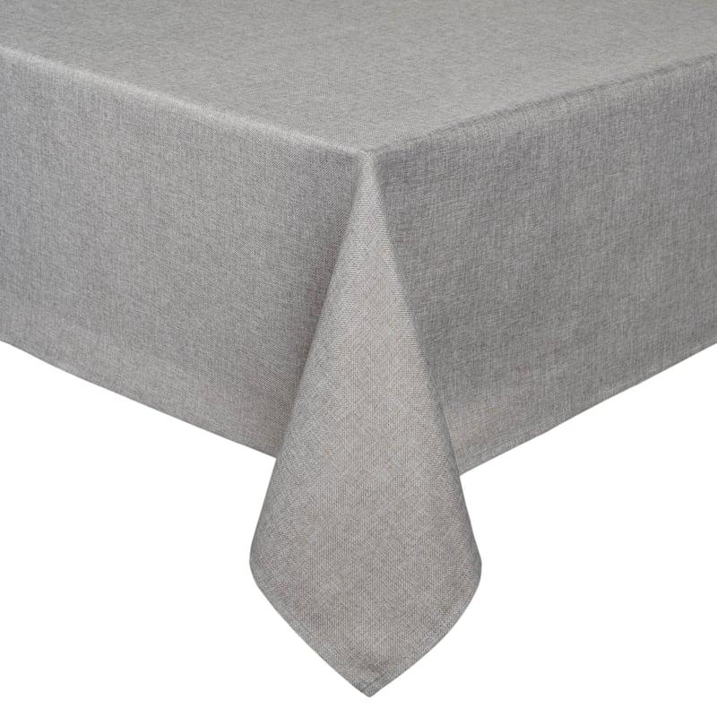 Tweed Table Cloth 60X84 Silver