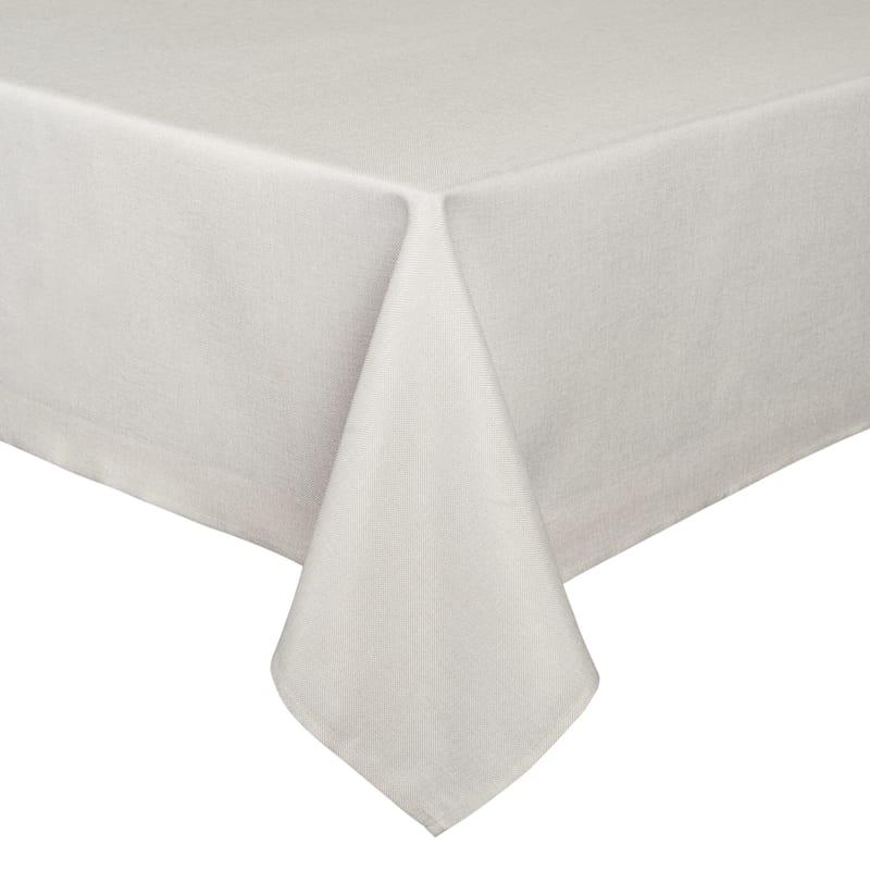 Tweed Table Cloth 60X104 Ivory