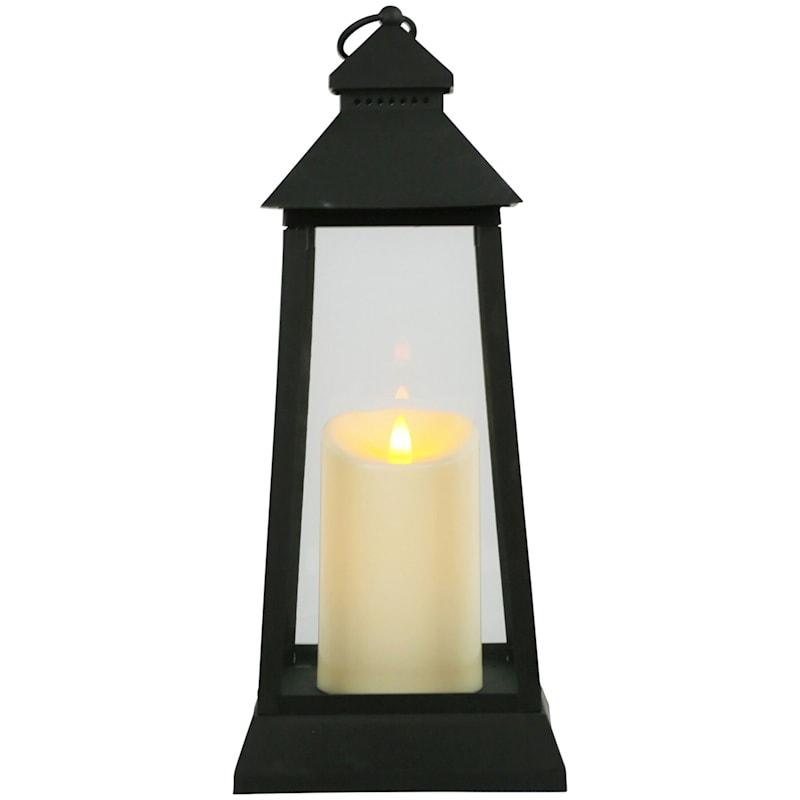 7X16 Led Plastic Lantern With 6 Hour Timer Black