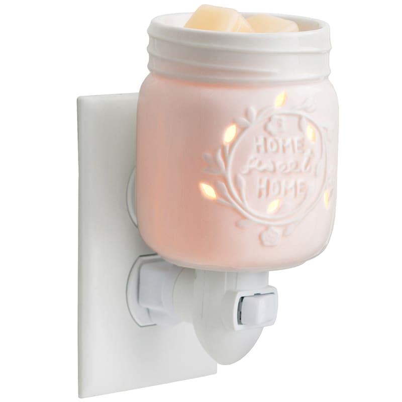 Mason Jar Plugin Wax Warmer White