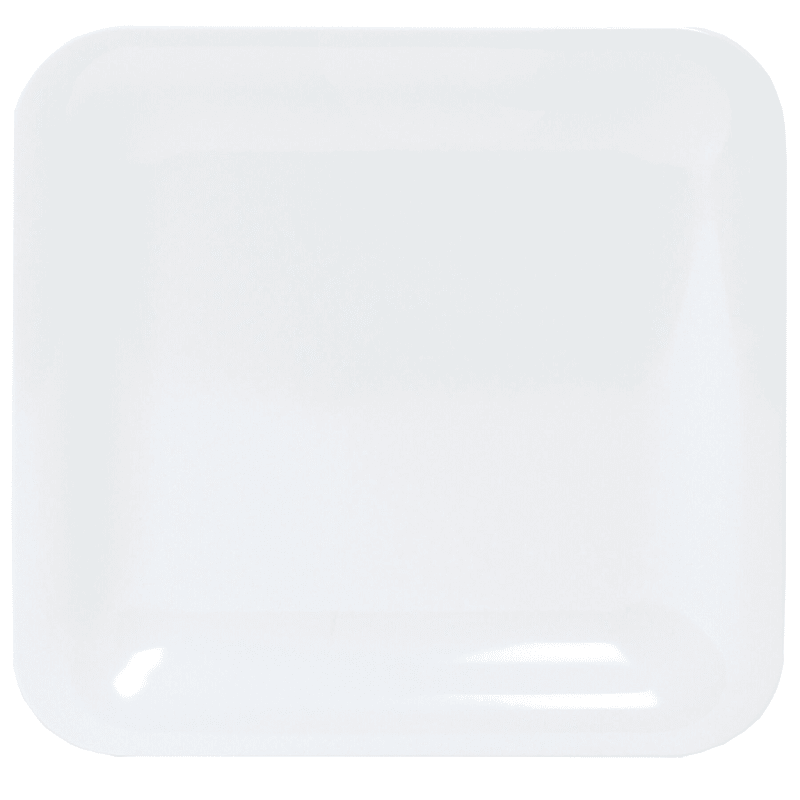 Melamine White Square Dinner Plate