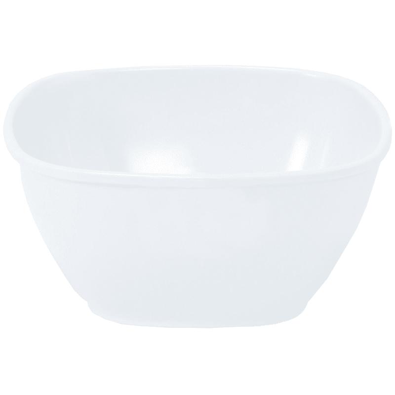 Melamine White Square Bowl