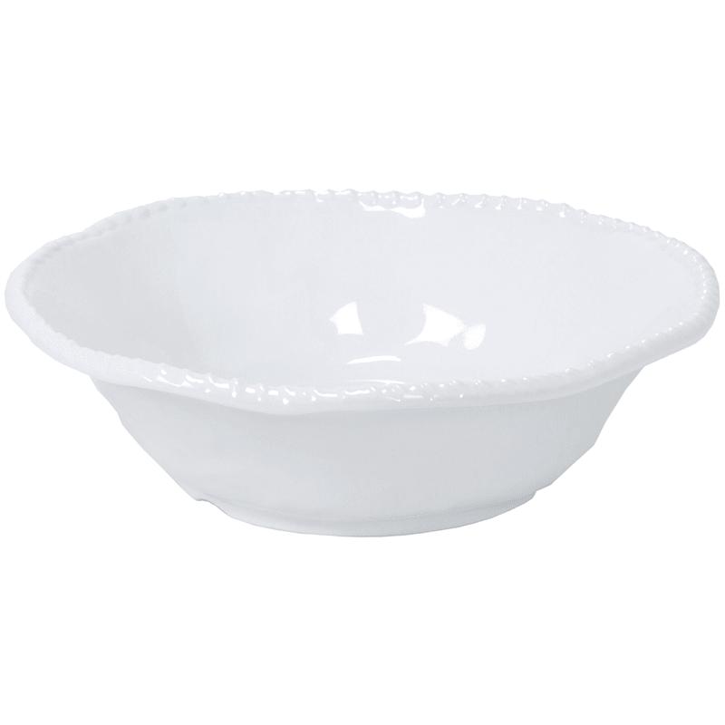 Melamine White Rope Detail 12in. Serve Bowl