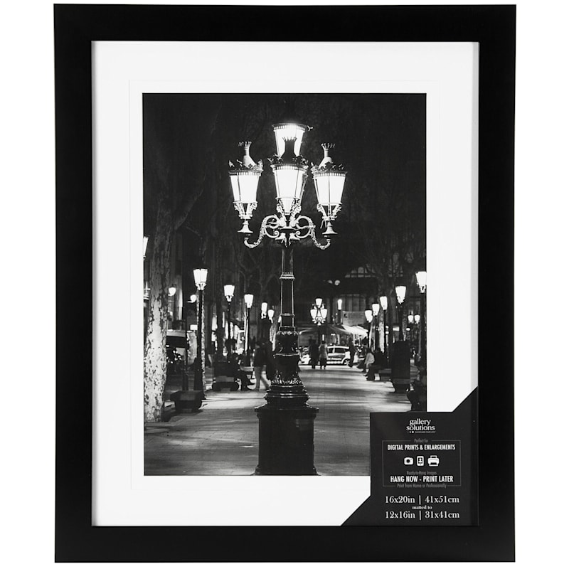 15X19 Matted To 12X16 Black Linear Profile Photo Wall Frame
