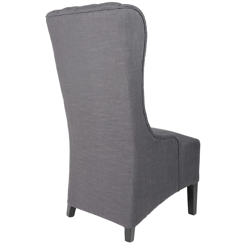 Buckingham Grey Tufted Accent Chair