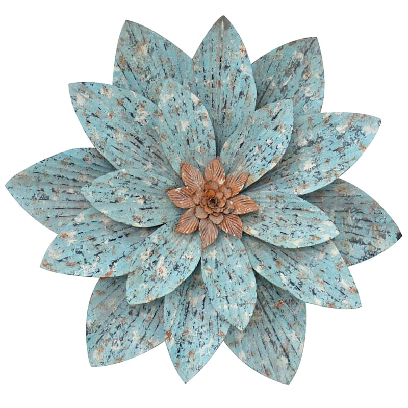 24X21 Metal Wall Flower Decor