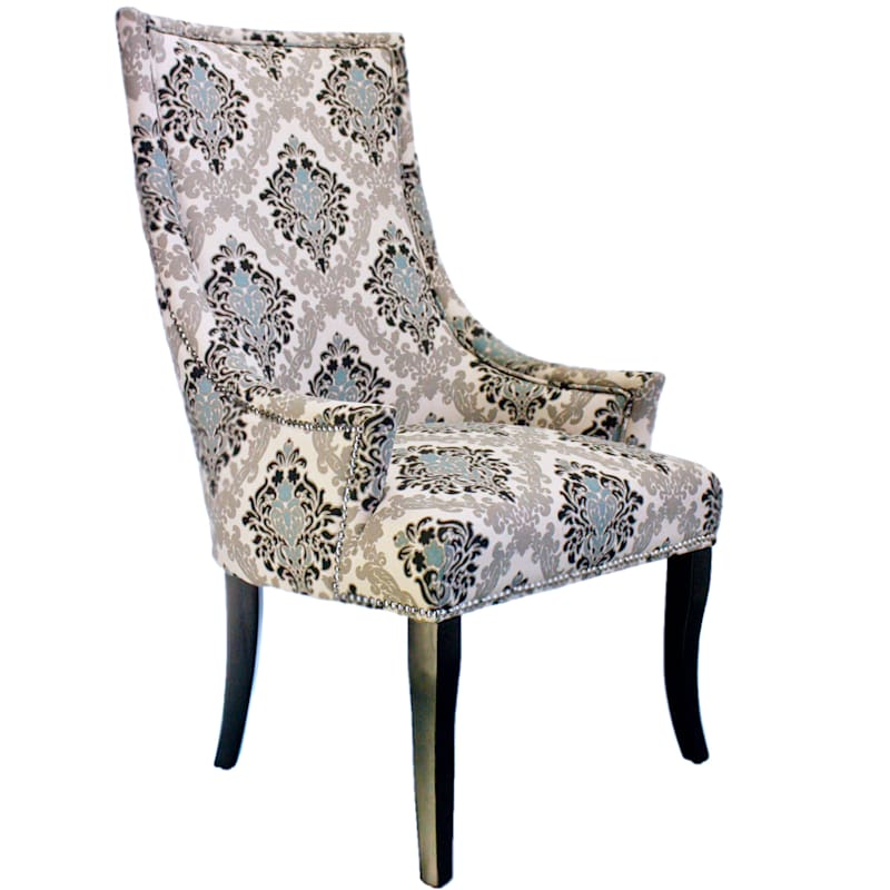 Chatham Damask Print Accent Chair