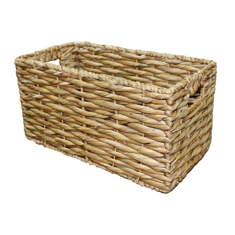Twist Water Hyacinth Basket M