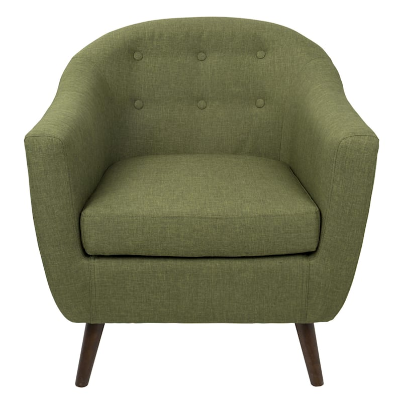 Rockwell Olive Mid-Century Modern Accent Chair