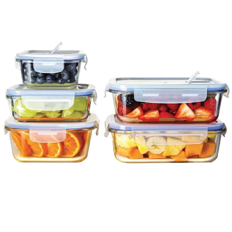 10-Piece Glass Food Storage Set/Lids