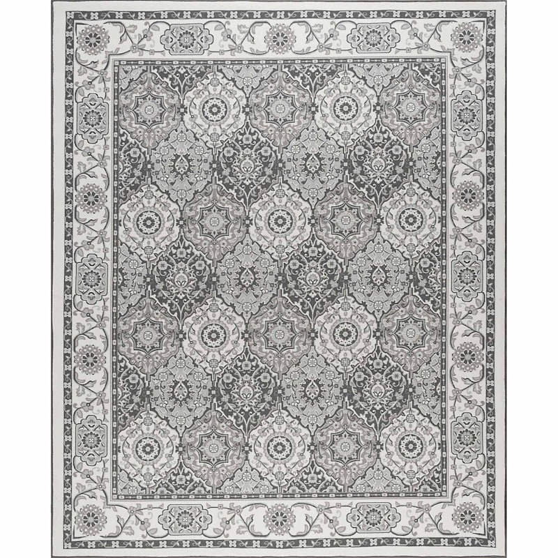(D409) Traditional Oriental Pattern Classic Panel Design Area Rug, 7x10