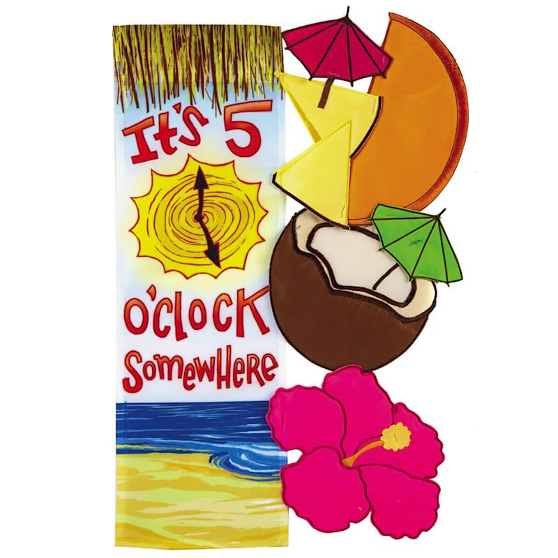 5 O Clock Somewhere Tropical Garden Flag