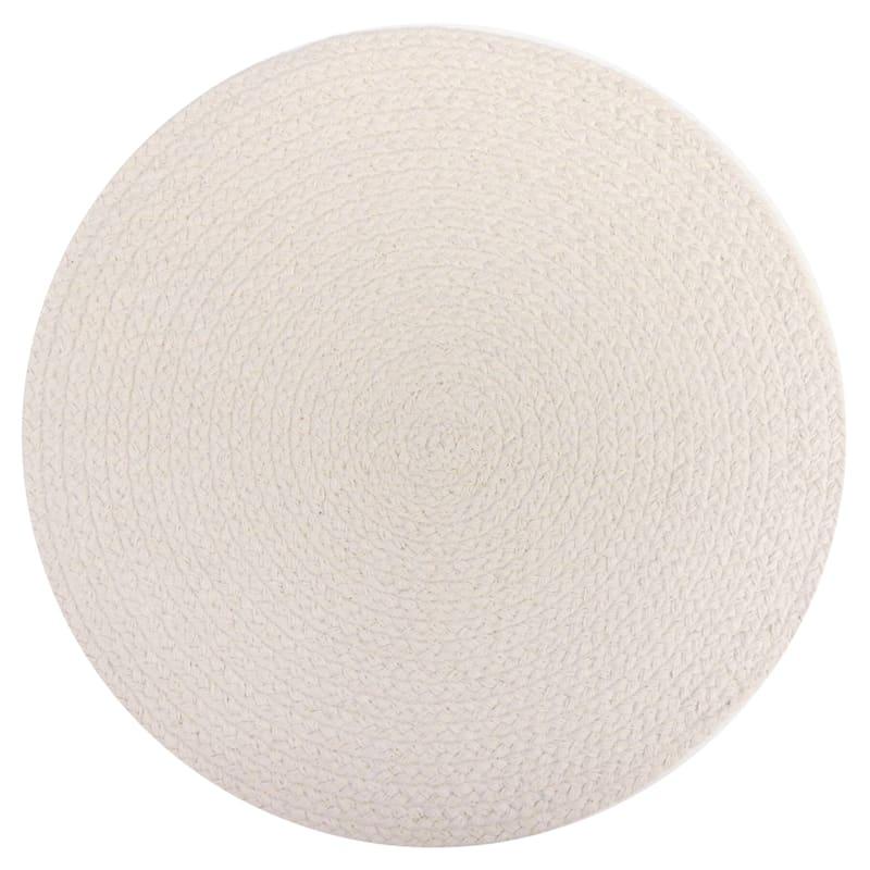 Natural Jute Braided Trim Cotton Placemat