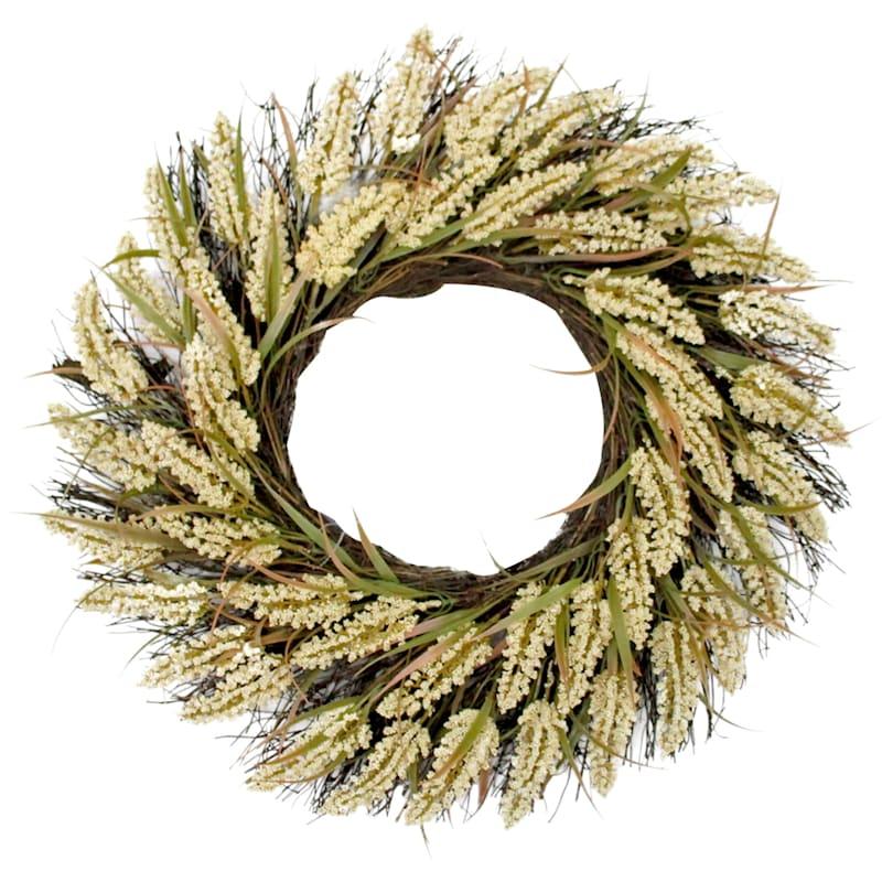 "Heather Wreath, 22"""