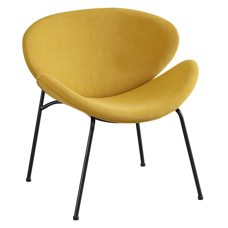 Jagger Mustard Chair with Black Metal Legs