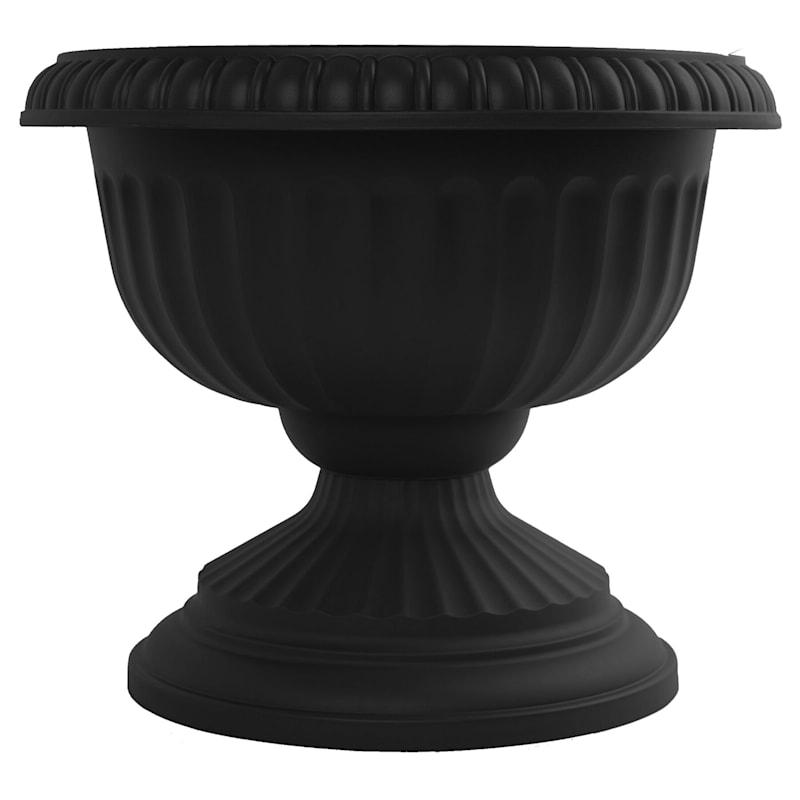 18in. Grecian Black Urn 2-Pieces