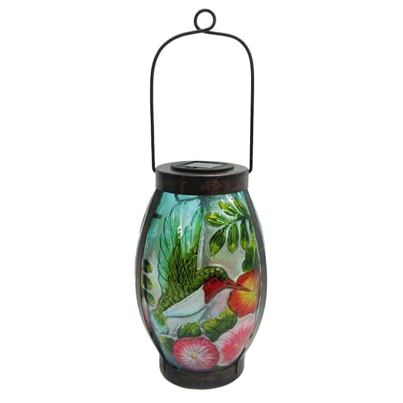 Metal Glass Lantern/Solar Light