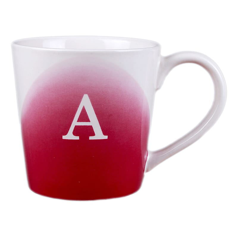 Ombre A Monogram Mug