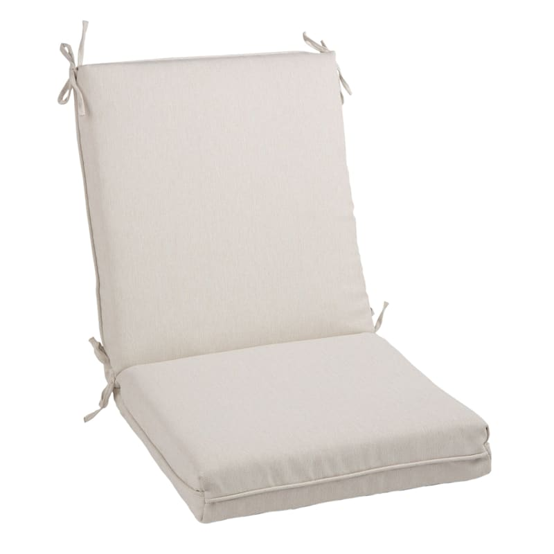 Tristin Heathered White Outdoor Premium Hinged Chair Cushion
