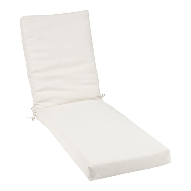 Tristin Heathered White Outdoor Premium Chase Lounge Universal Cushion