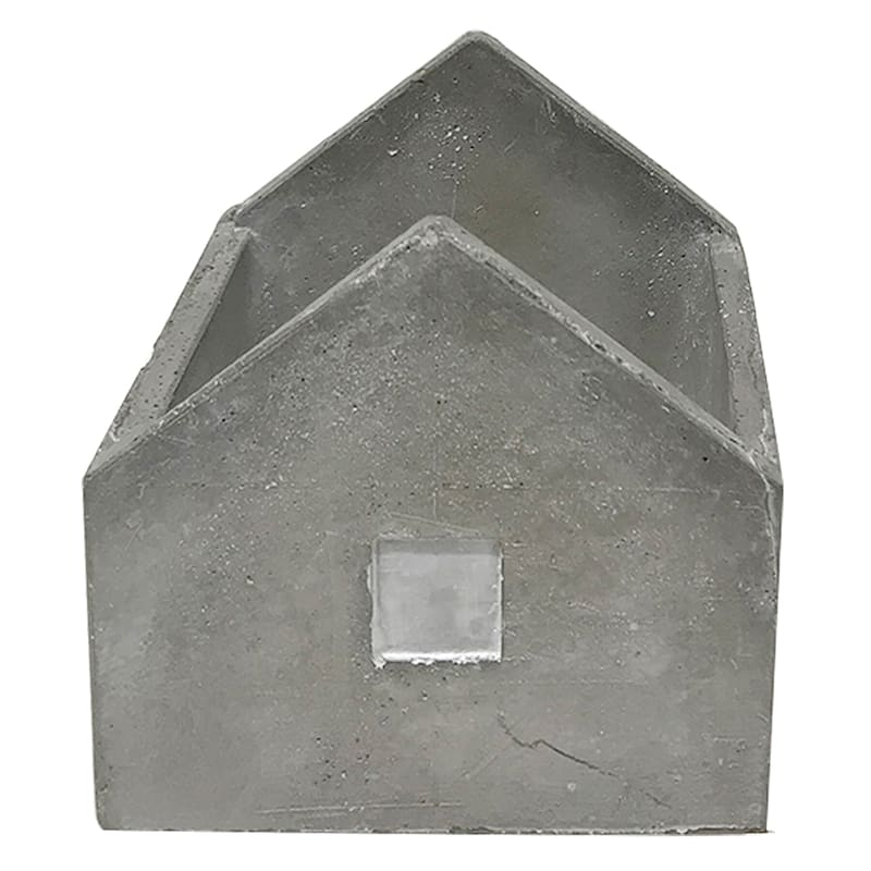 4in. Grey Cement House D�cor