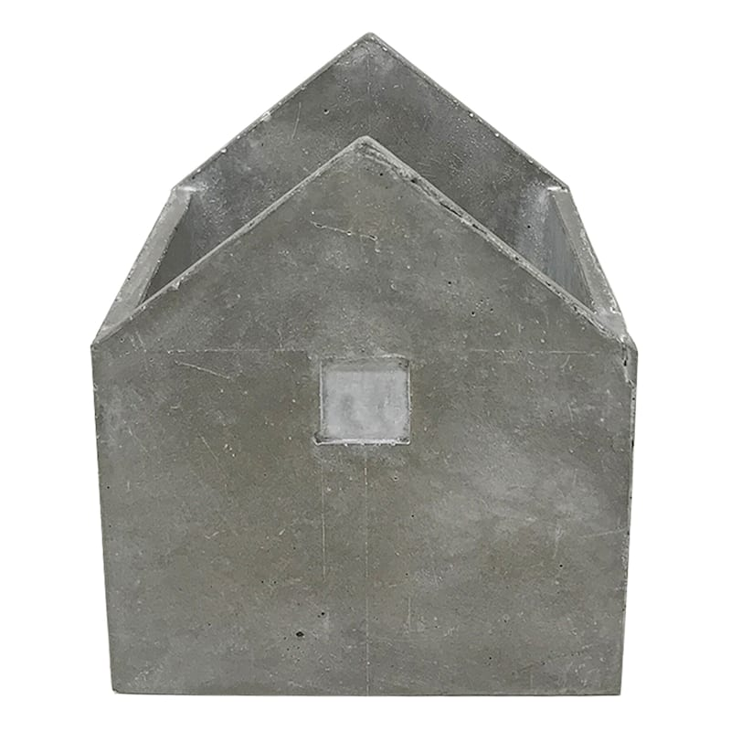7in. Grey Cement House D�cor