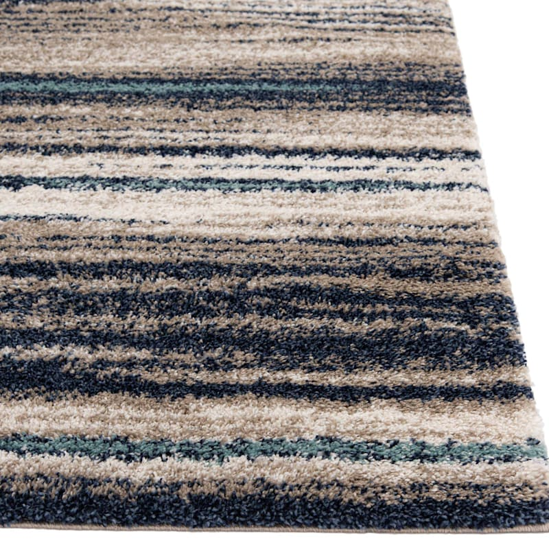 (C155) Dunkerton Multi Colored Woven Area Rug, 5x7