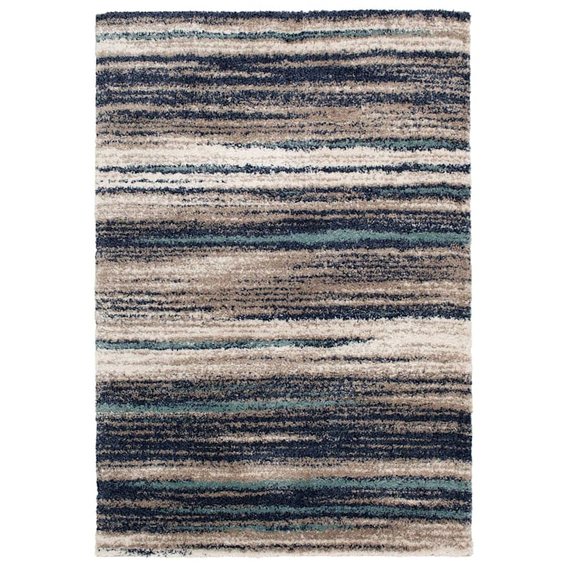 (C155) Dunkerton Multi Colored Woven Area Rug, 7x10