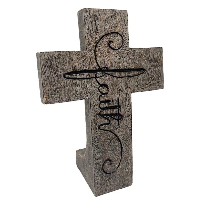 8in. Resin Faith Table Cross