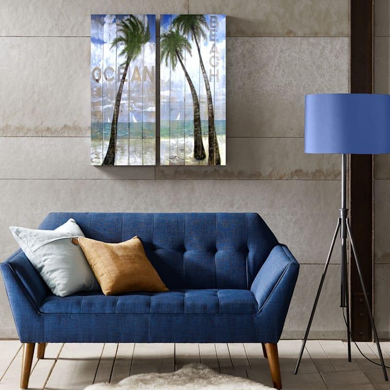 12X36 Coastal Sign Canvas Art