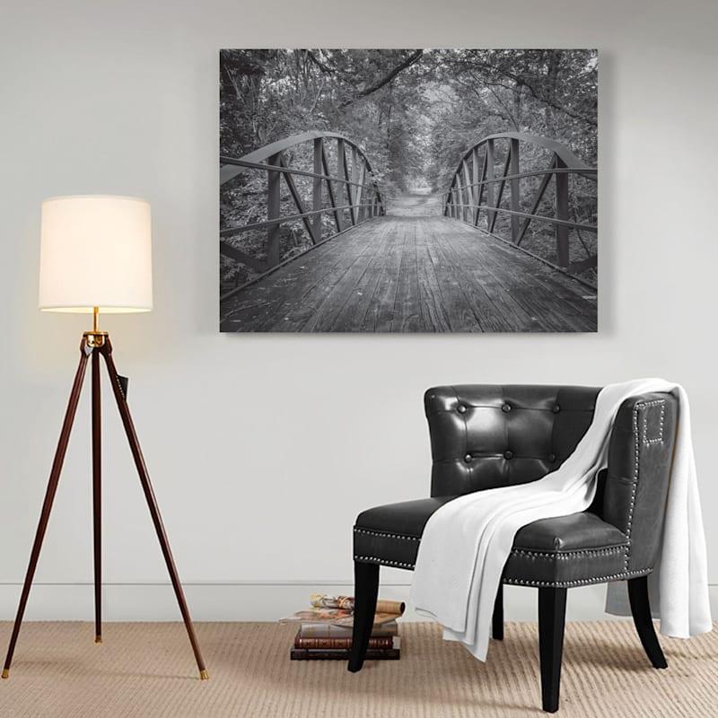 40X30 Forest Bridge Canvas Art