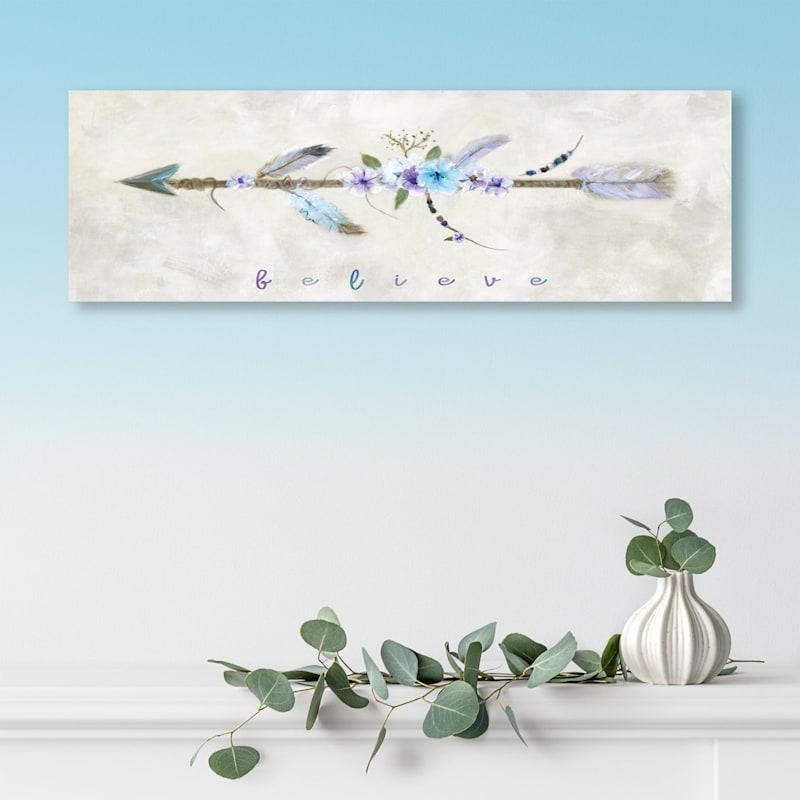36X12 Boho Arrow I Canvas Art