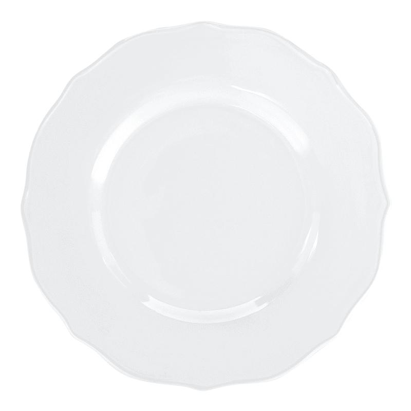 Grace Mitchell White Ruffle Edge Dinner Plate