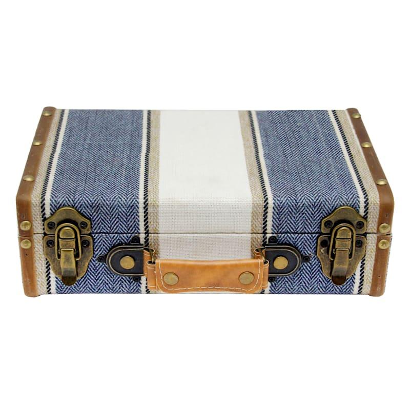 12in. Vintage Denim Suitcase